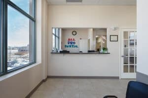 All Pro Dental waiting room